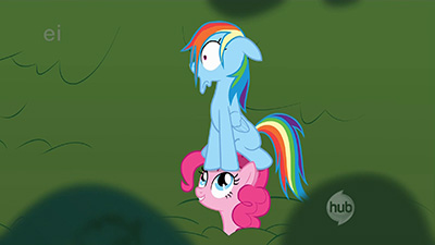 You lose your face like this in only one of two ways: opening the Ark of the Covenant and being stalked by Pinkie Pie.