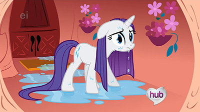 I know we got a wet mane Rarity in Episode 2, but this one's so much better.