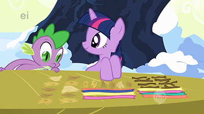 Dude, Twilight, I was sitting next to you /this whole time/ and didn't even see when you arranged all that. Seriously, you creep me out sometimes.