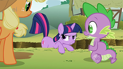 I dunno, that twitchy tail is doing a pretty good job, Twilight.