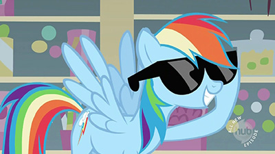 These glasses? They don't even attach to my ears. Because even my /ears/ are too awesome to be held back!