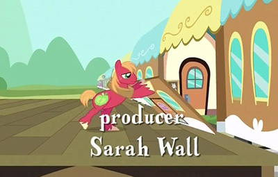 "Only after taking this screenshot did I realize the producer's last name was ""Wall,"" and here we have Big Mac lifting a wall. Lol."