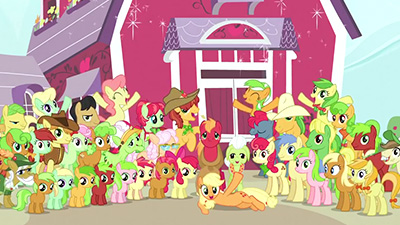 Alas, I never did get to do the AJ pose in any of my brony group photos.