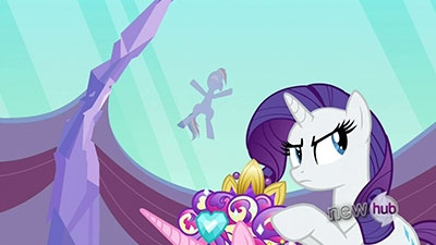 Rarity's unspoken lines are equally top-notch.