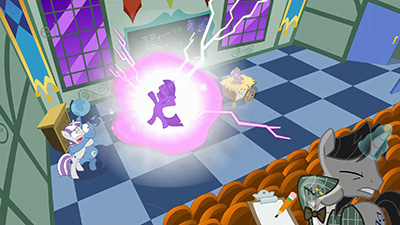 "The ""ei"" actually stands for ""explosion imminent."" Had Celestia not stepped in when she did, Twilight probably would have turned Canterlot into a smoking crater."