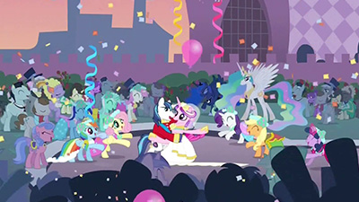 "Pictured: what an episode titled ""A Canterlot Wedding"" would lead you to believe happens. Not pictured: what actually happens."
