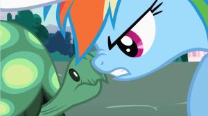 Irony, thy name is Rainbow Dash.